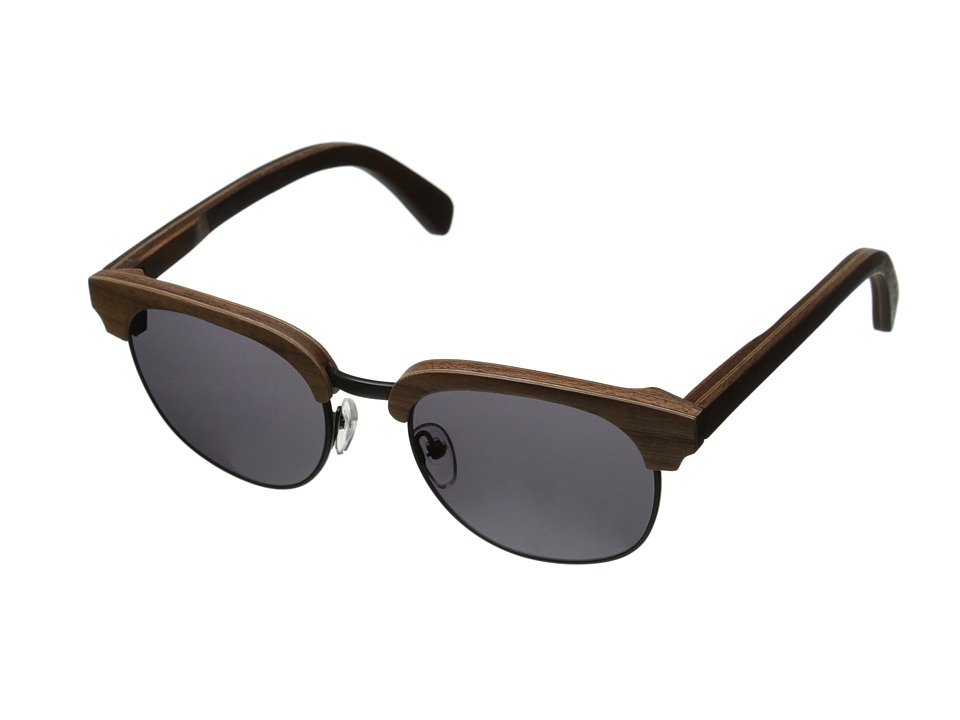 Shwood - Eugene (Walnut Black- Grey) Sport Sunglasses