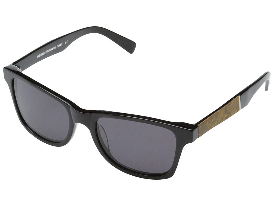 Shwood - Canby Fifty-Fifty (Black // Maple Burl - Grey) Sport Sunglasses