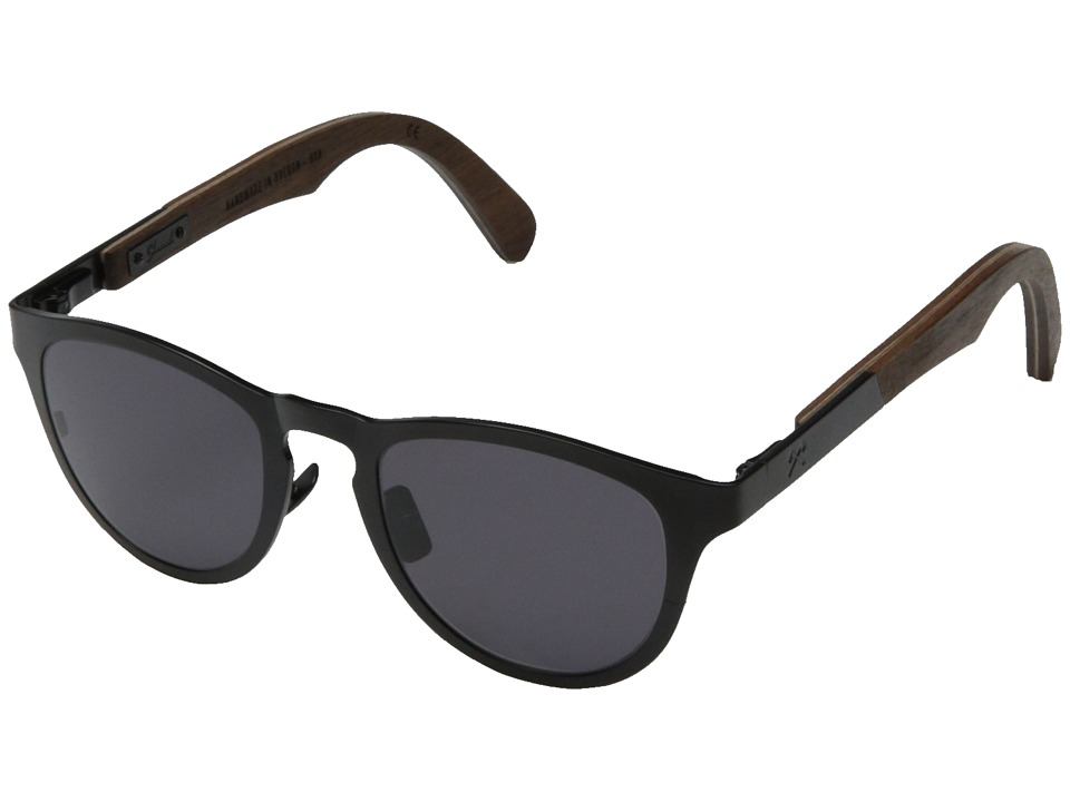 Shwood - Francis (Black Titanium// Walnut - Grey) Sport Sunglasses