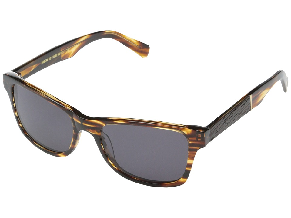Shwood - Canby Fifty-Fifty (Tortoise shell // Ebony - Grey) Sport Sunglasses