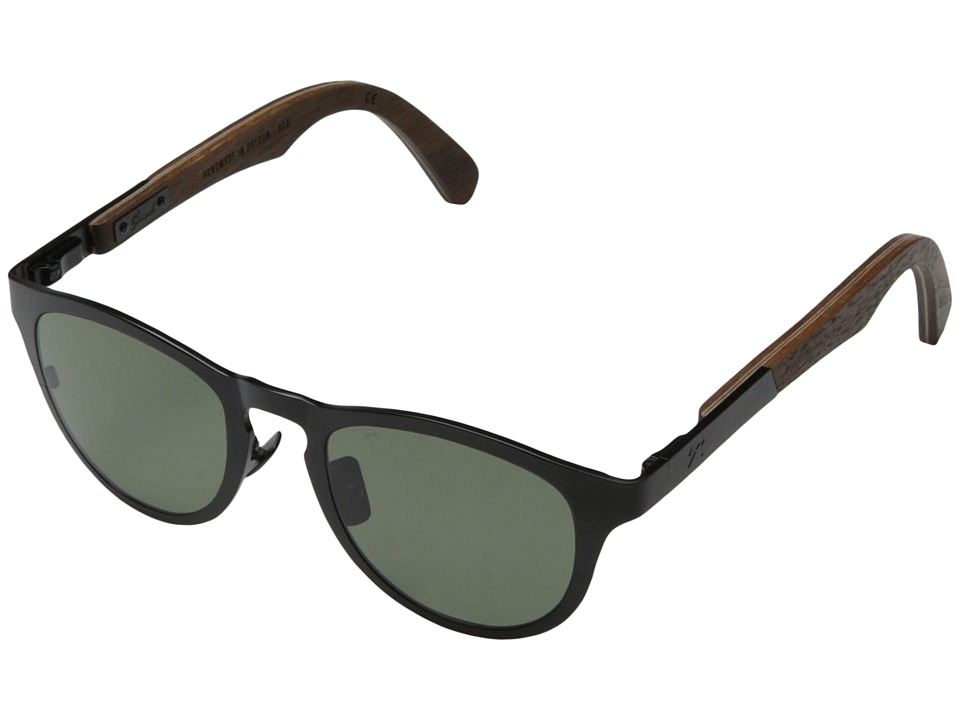 Shwood - Francis - Polarized (Black Titanium// Walnut - G15 Polarized) Sport Sunglasses