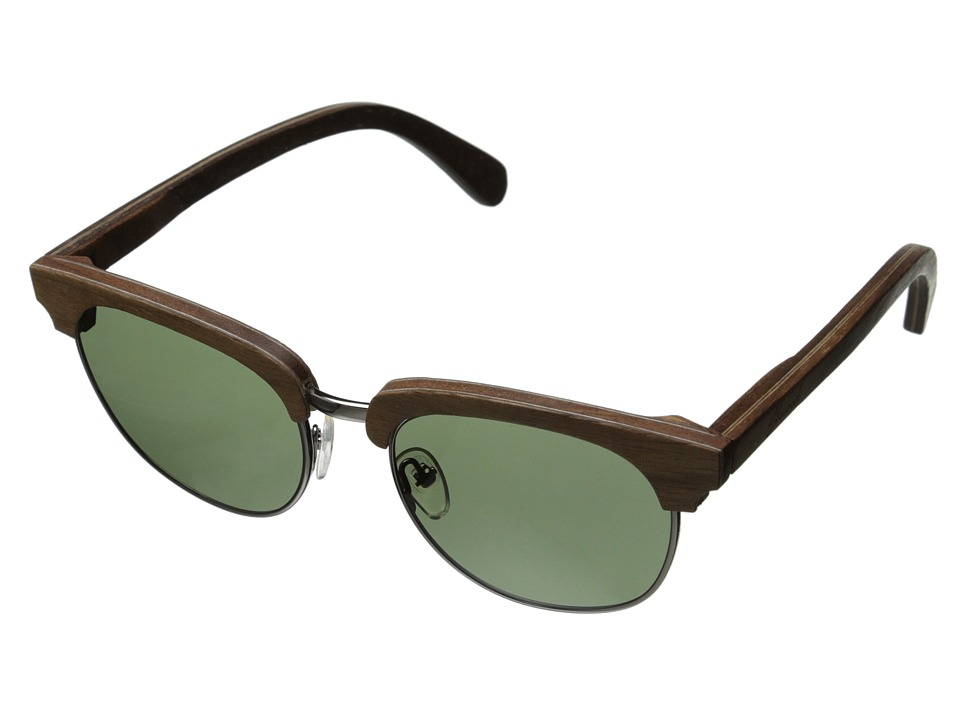 Shwood - Eugene - Polarized (Walnut Silver- G15 Polarized) Sport Sunglasses
