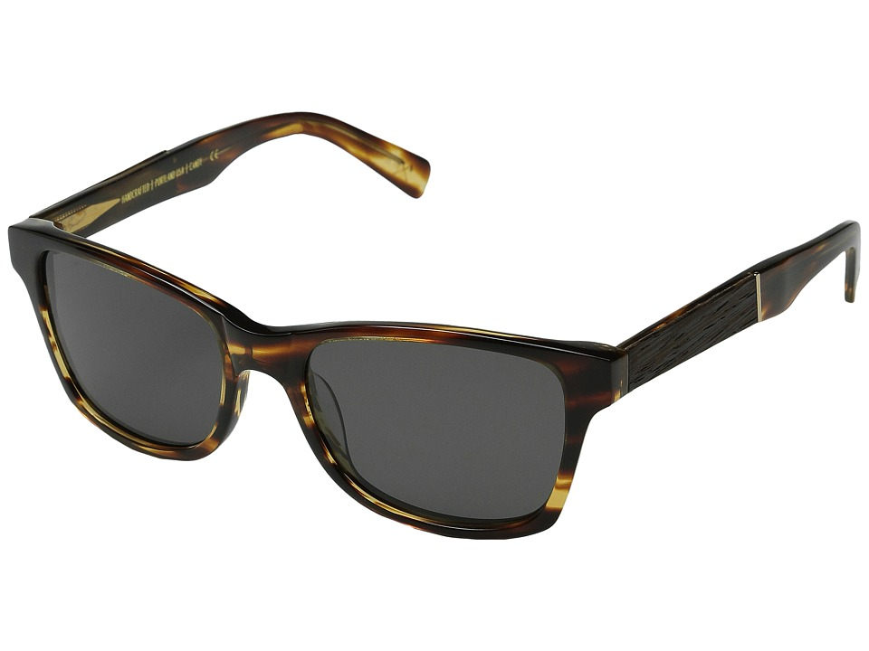 Shwood - Canby Fifty-Fifty - Polarized (Tortoise shell // Ebony - Grey Polarized) Sport Sunglasses