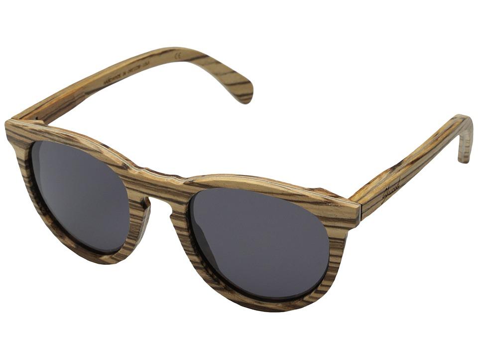 Shwood - Belmont (Zebrawood - Grey) Sport Sunglasses