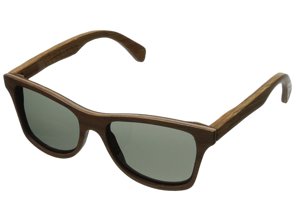 Shwood - Canby - Polarized (Walnut/Oak Temple - Grey Polarized) Sport Sunglasses