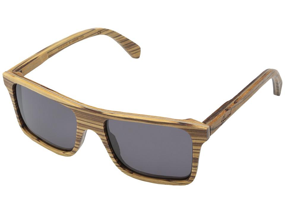 Shwood - Govy (Zebrawood - Grey) Sport Sunglasses