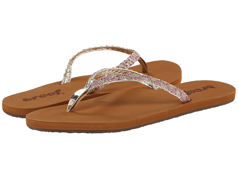 Reef - Twisted Stars (Tan/Pink Glitter) Women