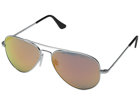 Randolph - Concorde 57mm (Matte Chrome/Orange Flash) Fashion Sunglasses