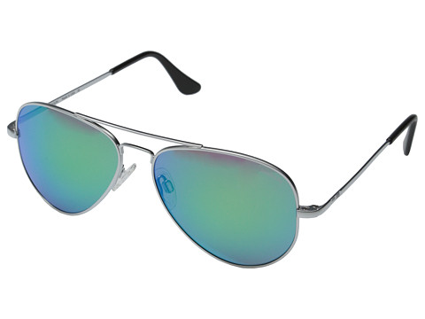 Randolph - Concorde 57mm (Matte Chrome/Green Flash) Fashion Sunglasses
