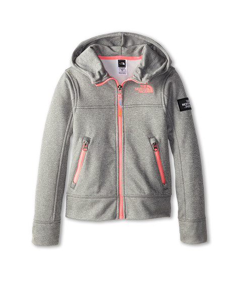 The North Face Kids - Mayzie Full Zip (Little Kids/Big Kids) (Heather Grey) Girl