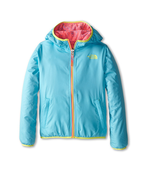 The North Face Kids - Linnet Reversible Print Fleece Jacket (Little Kids/Big Kids) (Fortuna Blue) Girl's Sweatshirt