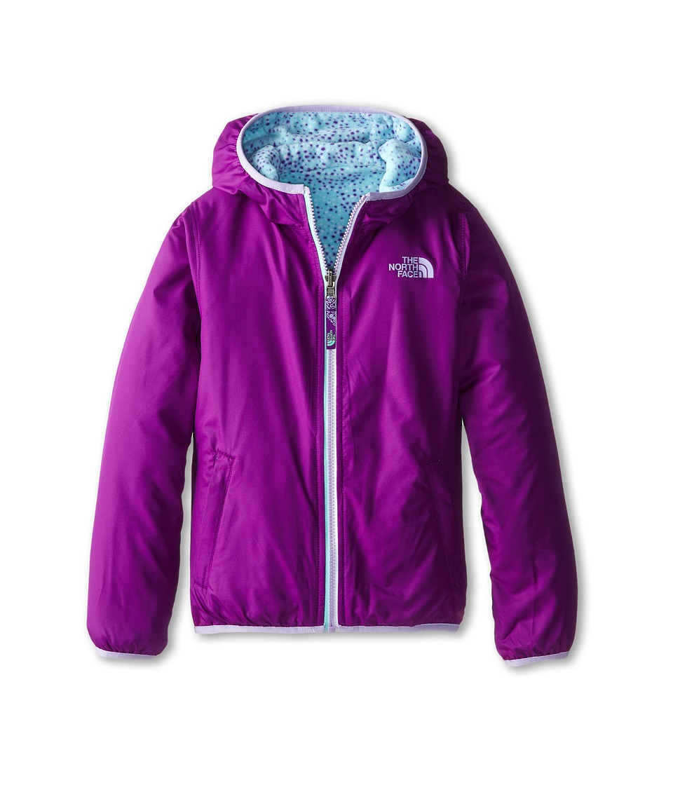 The North Face Kids - Linnet Reversible Print Fleece Jacket (Little Kids/Big Kids) (Iris Purple) Girl