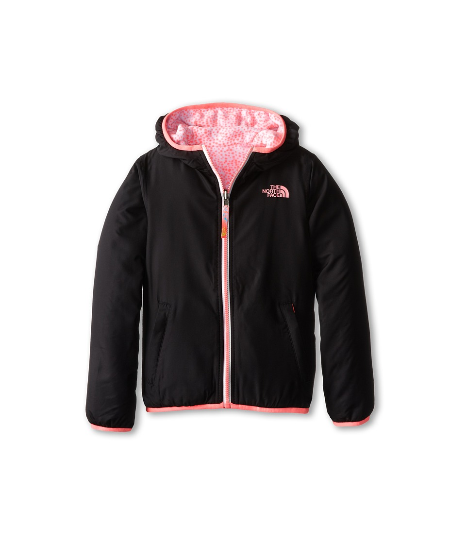 The North Face Kids - Linnet Reversible Print Fleece Jacket (Little Kids/Big Kids) (TNF Black) Girl's Sweatshirt