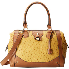 SALE! $44.99 - Save $105 on London Fog Lark Satchel (Mustard Ostrich) Bags and Luggage - 70.01% OFF $150.00