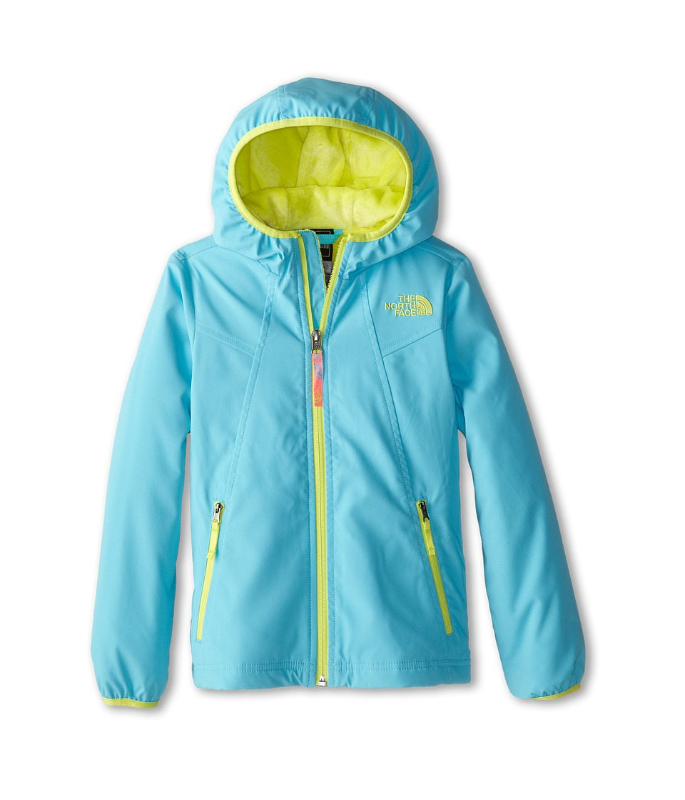 The North Face Kids - Mossbud Soft Shell Hoodie (Little Kids/Big Kids) (Fortuna Blue) Girl's Sweatshirt