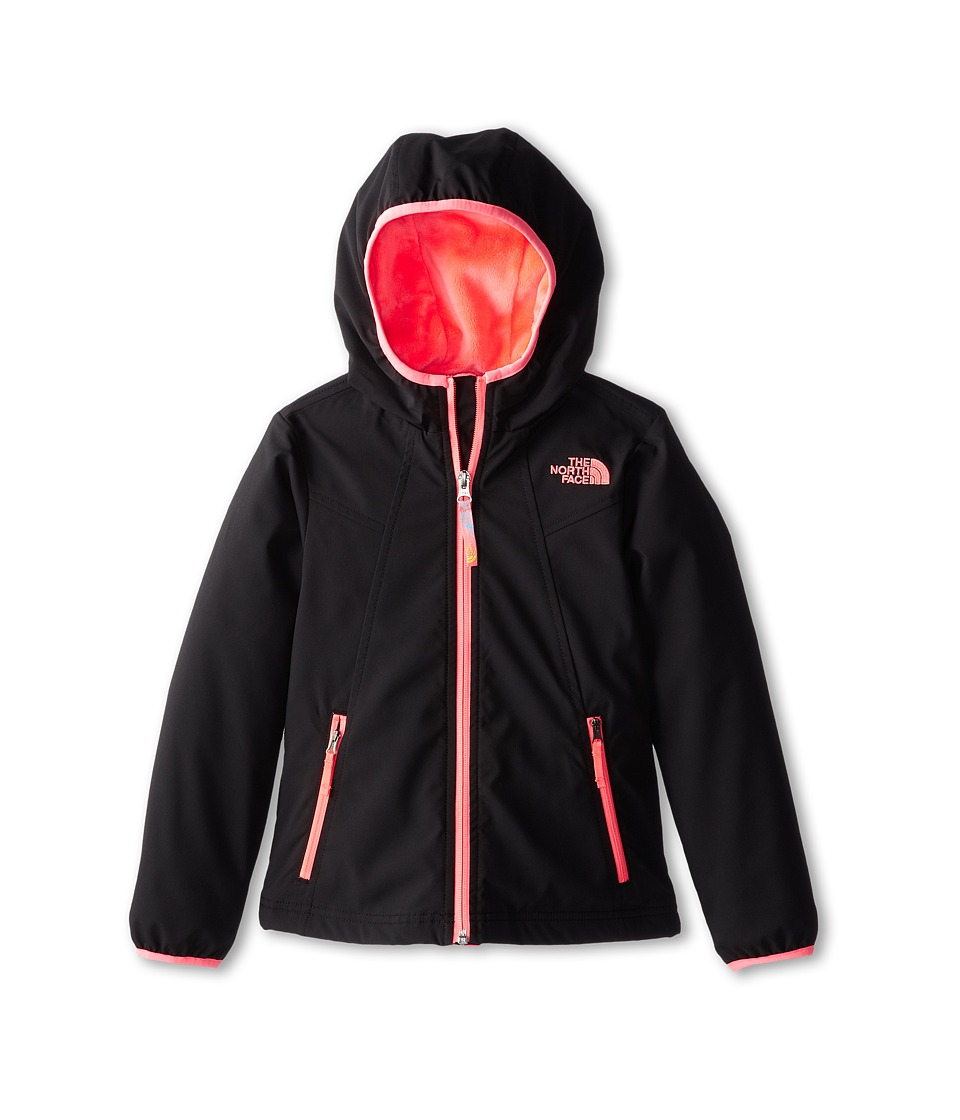 The North Face Kids - Mossbud Soft Shell Hoodie (Little Kids/Big Kids) (TNF Black) Girl's Sweatshirt