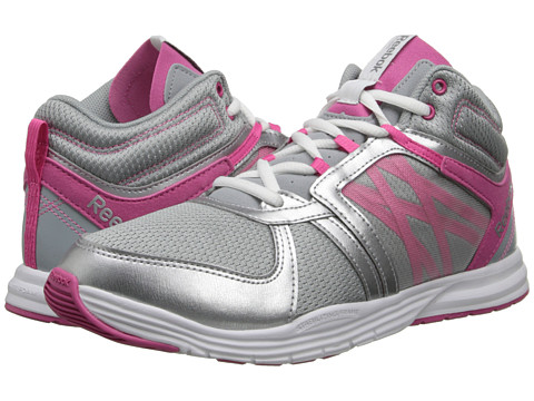 Reebok - Sublite Studio Flame Mid (Baseball Grey/Silver Metallic/Pink/White) Women