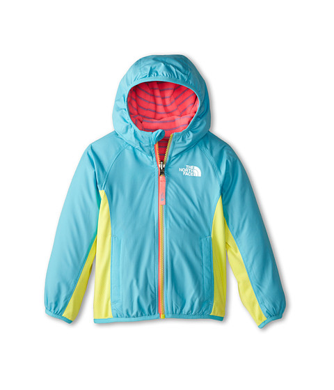 The North Face Kids - Reversible Grizzly Peak Lined Wind Jacket (Toddler) (Fortuna Blue) Girl