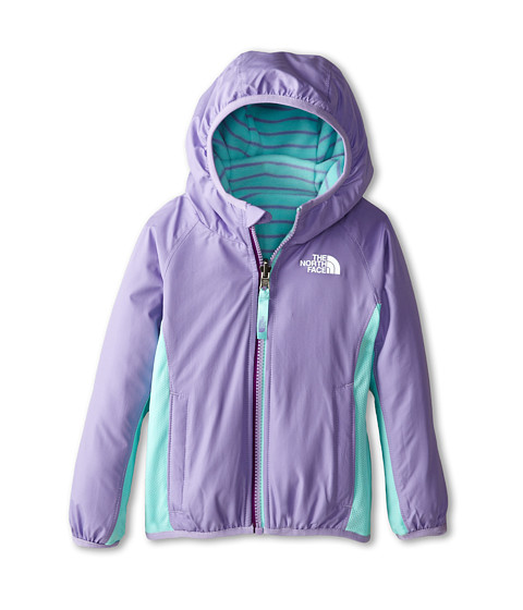 The North Face Kids - Reversible Grizzly Peak Lined Wind Jacket (Toddler) (Violet Tulip Purple) Girl
