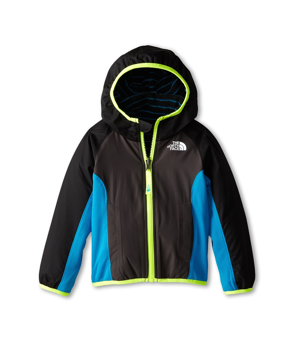 The North Face Kids - Reversible Grizzly Peak Wind Jacket (Toddler) (TNF Black/Graphite Grey) Boy