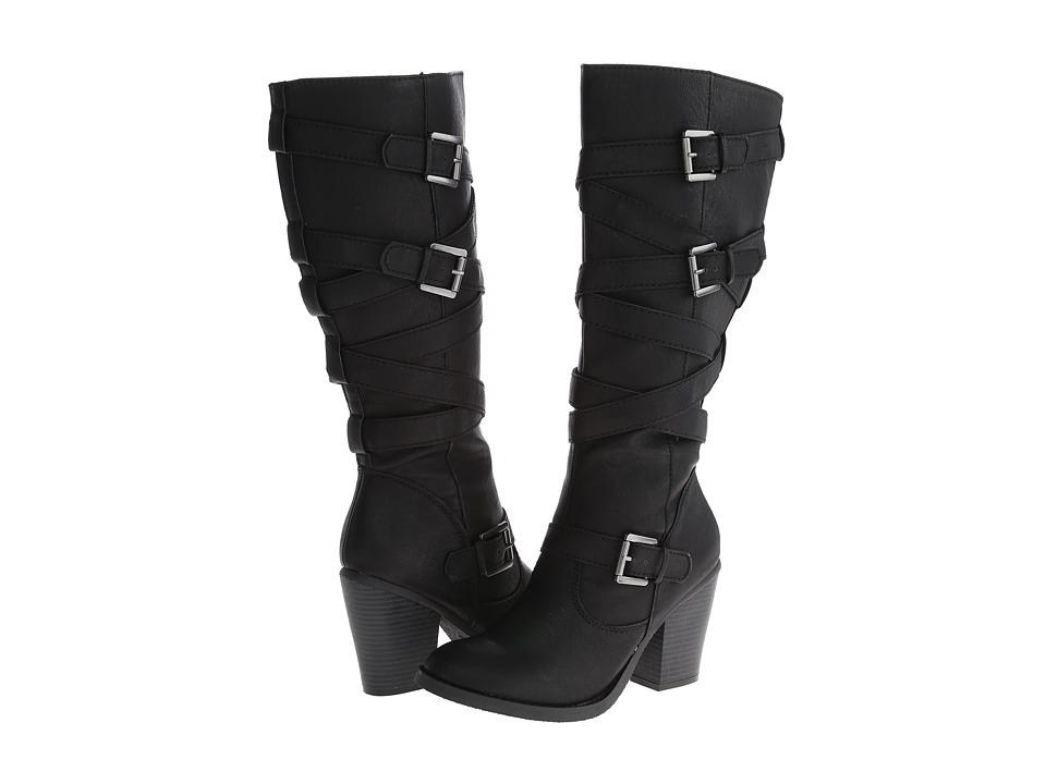 Madden Girl - Kiickbak (Black PU) Women's Zip Boots