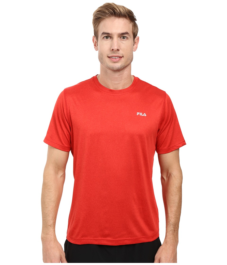 Fila Short Sleeve Top (Chinese Red/Heather) Men
