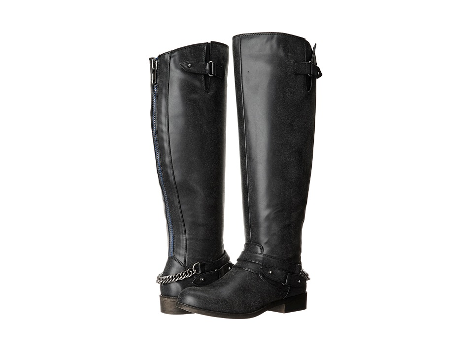 Madden Girl - Canyonwc Wide Calf (Black Paris) Women's Zip Boots