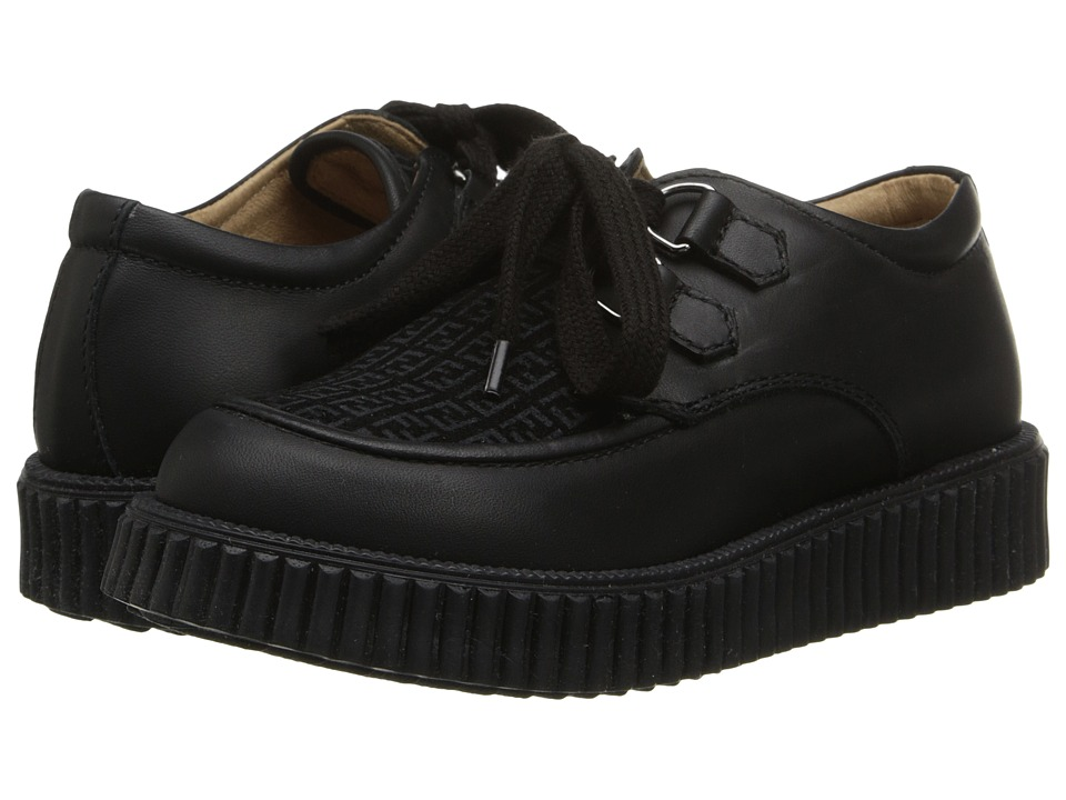 Fendi Kids - Thick Soled Logo Shoe (Little Kid/Big Kid) (Black) Girl's Shoes