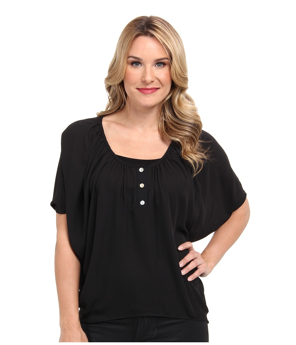 Christin Michaels - Celina Top (Black) Women's Clothing