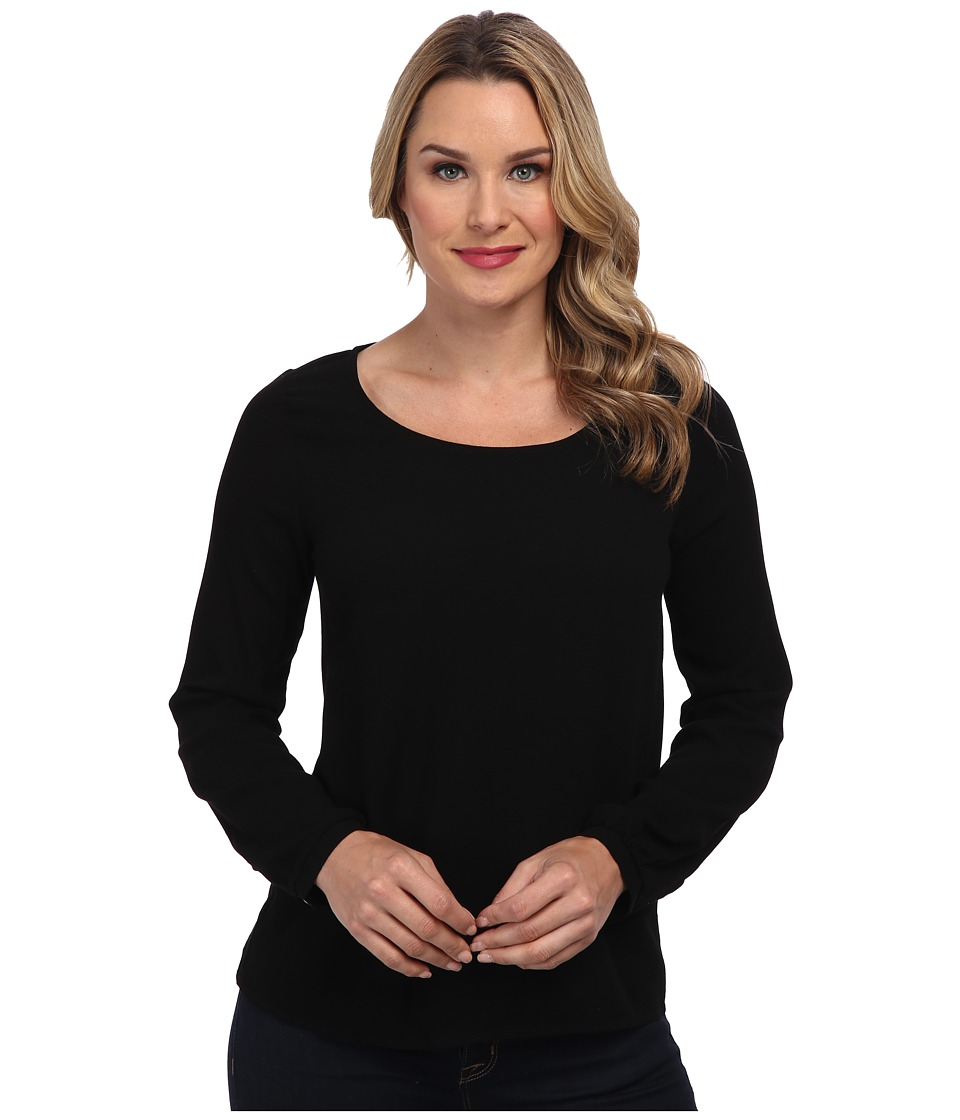 Christin Michaels - Iris Top (Black) Women's Clothing