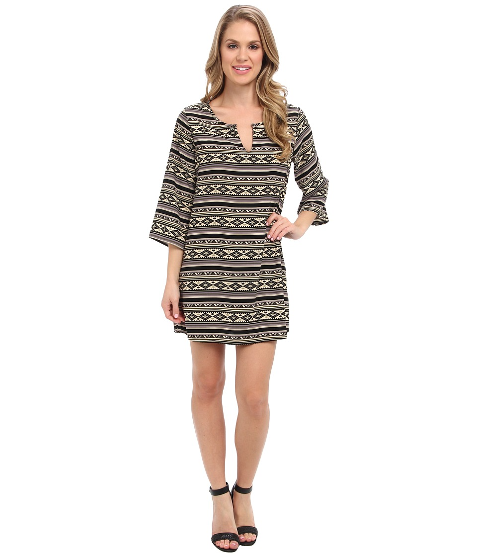 Christin Michaels - Kathryn Shift Dress (Black/Grey) Women's Dress