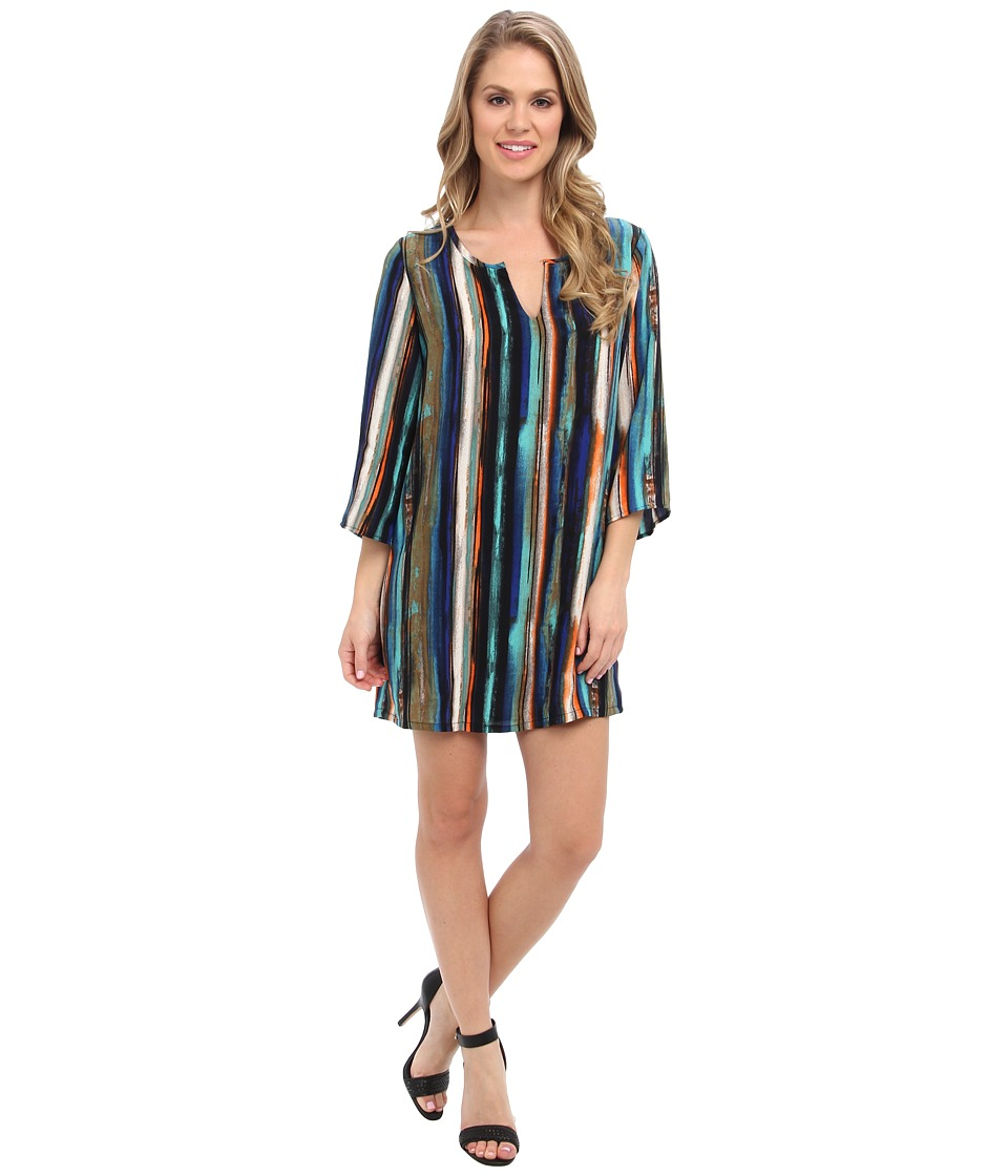 Christin Michaels - Kathryn Shift Dress (Water Color) Women's Dress
