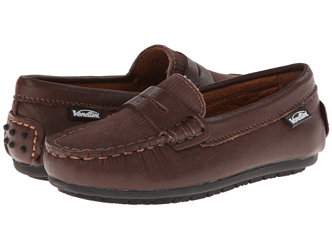 Venettini Kids - 55-Savor (Toddler/Little Kid) (Dark Brown Leather/Brown Corduroy Leather) Boys Shoes