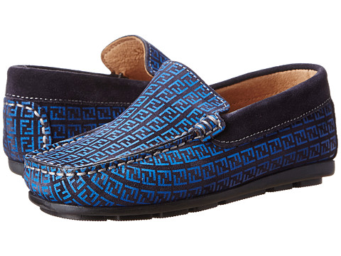 Fendi Kids - Logo Loafer (Little Kid/Big Kid) (Blue) Boys Shoes