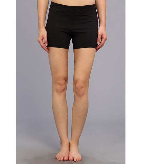 Fila - Side Piped Short (Black/Pink Glo) Women