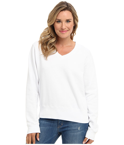Mod-o-doc - Deep V-Neck (White) Women's Sweater