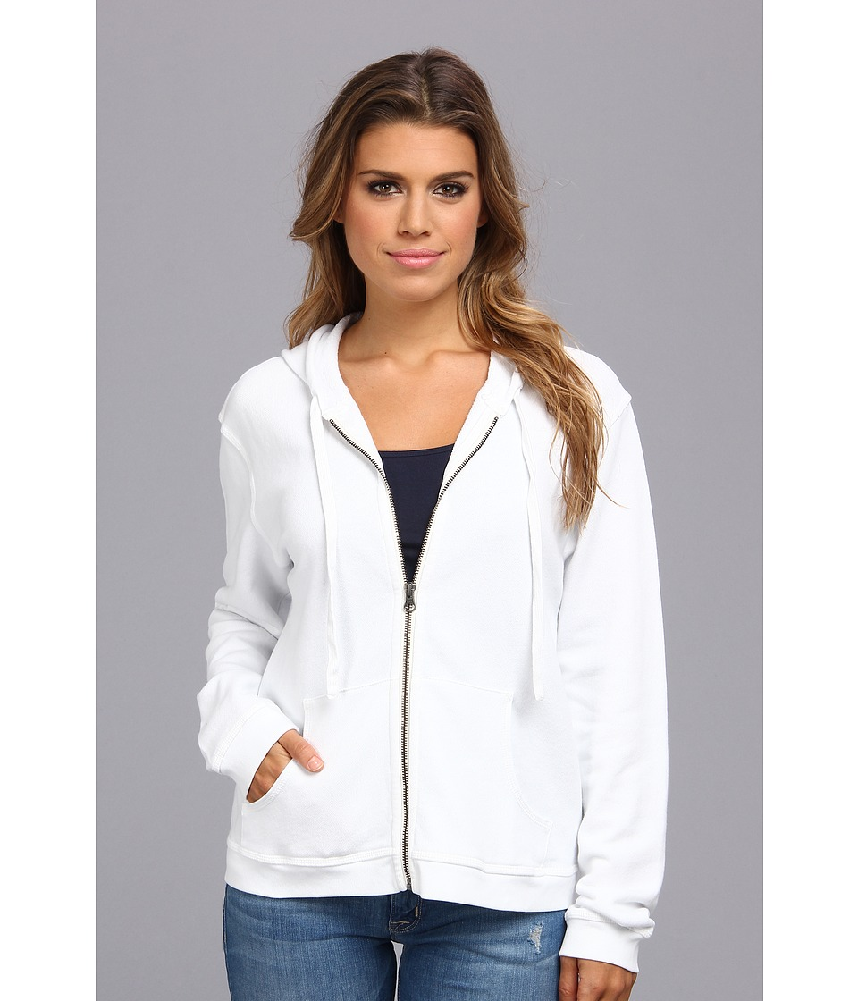 Mod-o-doc - Zip Hoodie (White) Women's Sweatshirt