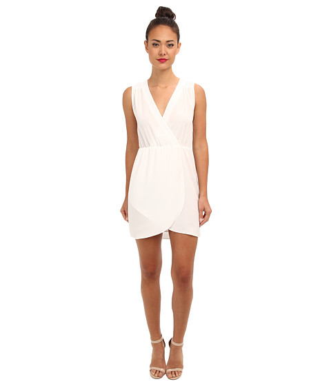 Brigitte Bailey - Emily Wrap Dress (White) Women