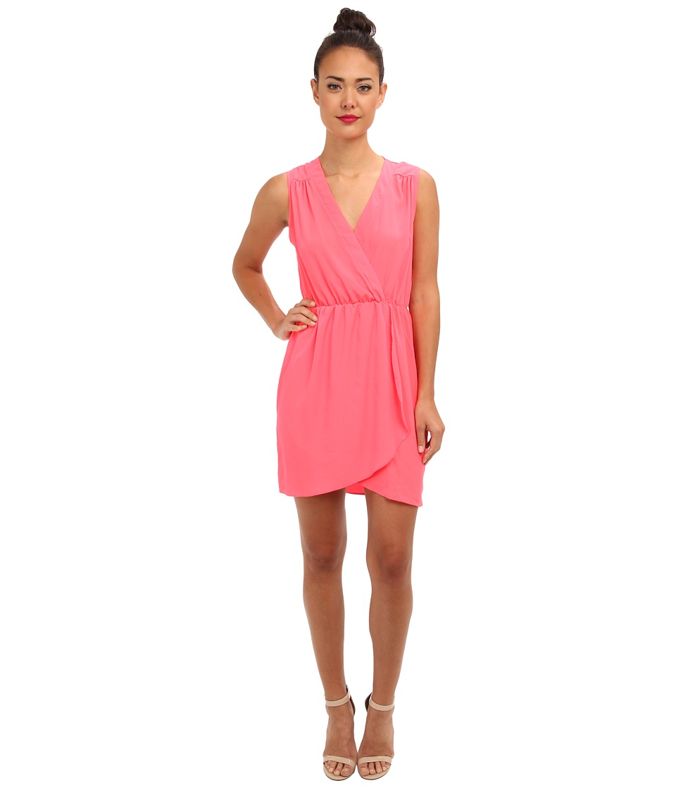 Brigitte Bailey - Emily Wrap Dress (Neon Coral) Women