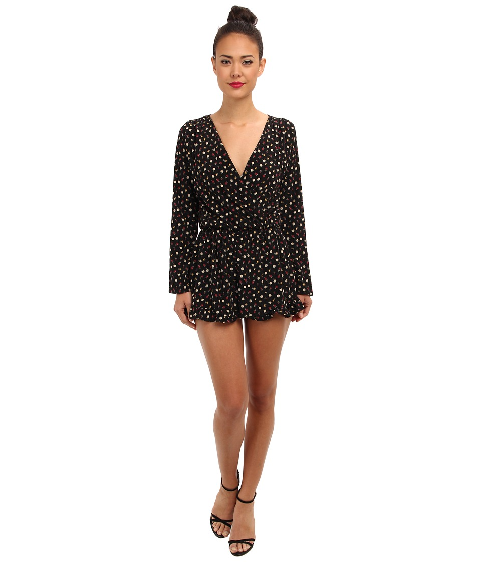 Brigitte Bailey - Krisi Romper (Black Floral) Women's Clothing