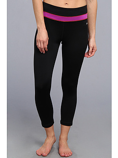SALE! $26.4 - Save $22 on Fila 3 4 Length Tight (Black Purple Cactus Flower Fiery Coral) Apparel - 45.00% OFF $48.00