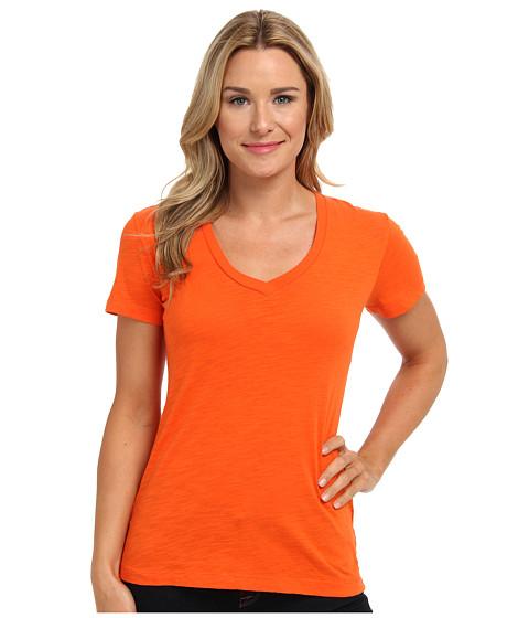 Mod-o-doc - Slub Jersey S/S V-Neck Tee (Flame) Women's T Shirt