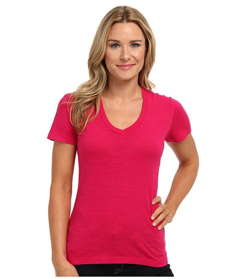 Mod-o-doc - Slub Jersey S/S V-Neck Tee (Pinkberry) Women's T Shirt