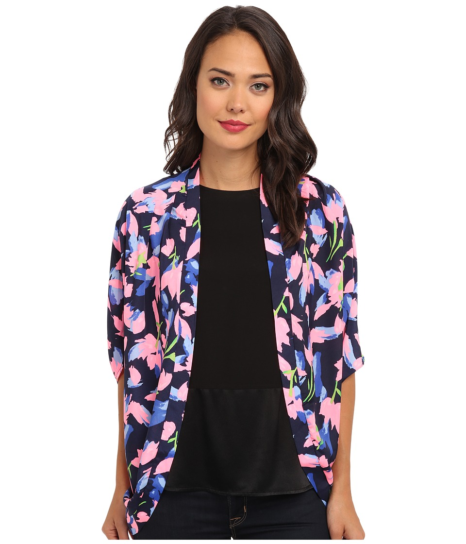 Gabriella Rocha - Crazed Tulips Kimono (Neon Pink) Women's Sweater