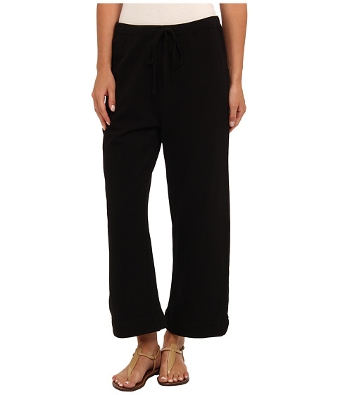 Mod-o-doc - Rib Waist Capri (Black) Women's Casual Pants