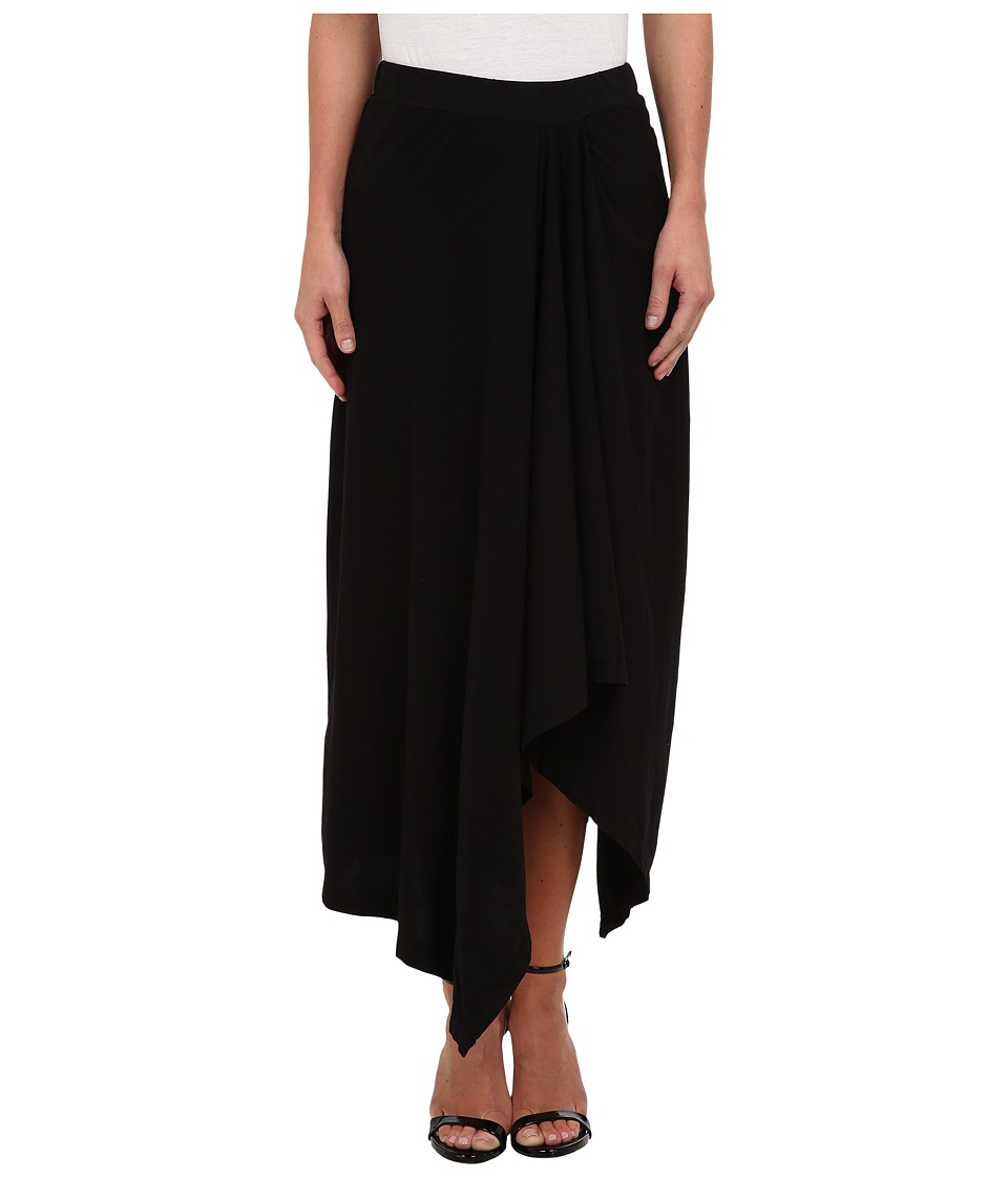 Mod-o-doc - Classic Jersey Hi-Low Hem Maxi Skirt (Black) Women's Skirt
