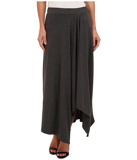 Mod-o-doc - Classic Jersey Hi-Low Hem Maxi Skirt (Midnight Heather) Women's Skirt