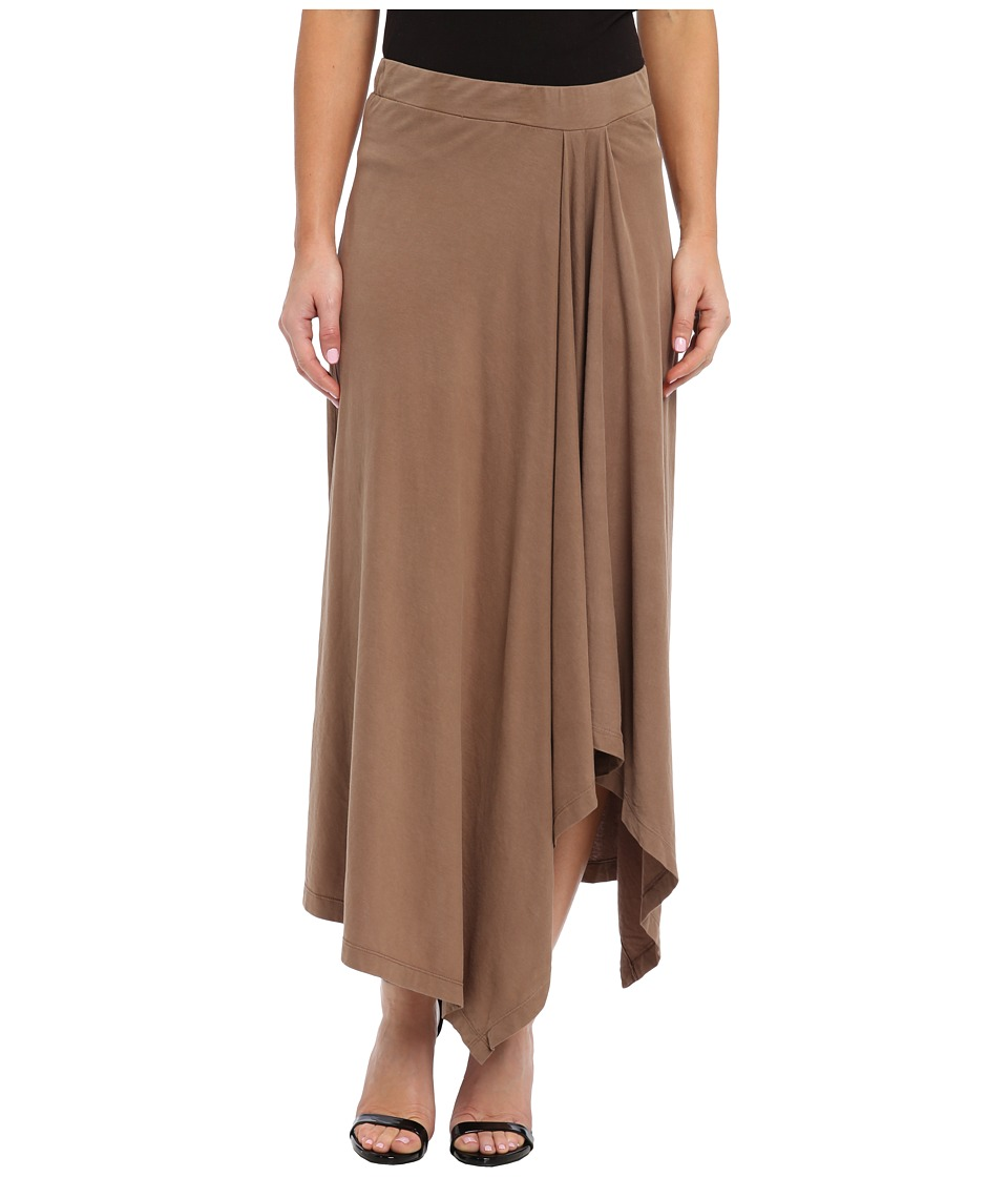 Mod-o-doc - Classic Jersey Hi-Low Hem Maxi Skirt (Walnut) Women