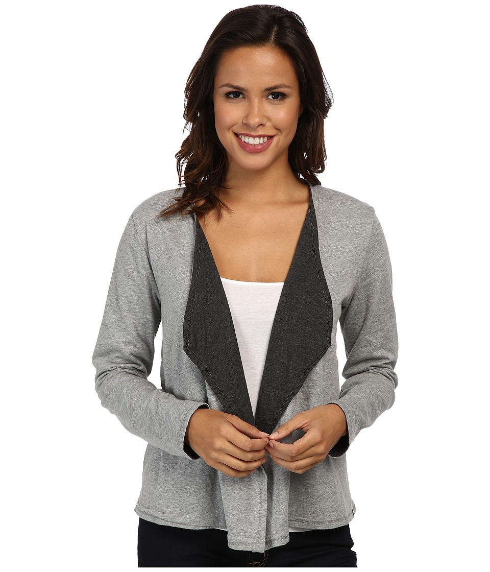 Mod-o-doc - Supreme Jersey Reversible Cardigan (Smoke Heather) Women's Sweater