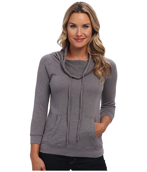 Mod-o-doc - Slub French Terry Cowl Funnel Neck Pullover (Storm) Women's Sweater